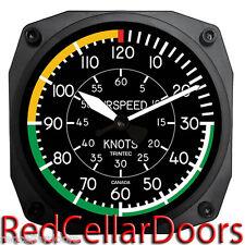 "TRINTEC New Aviator Design 2060 Series 6.5"" AIRSPEED Wall Clock Aviation Pilots"