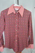 Lady Manhattan Shirt Off His Back Vintage Red Plaid Small (NO TAG) Women's SHIRT