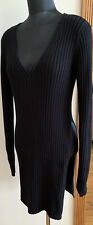 NWT New Express long sleeve knit sweater black  L Large Asymmetrical Slit $49.90