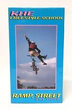 KHE Freestyle School Ramp Street BMX VHS Video Vintage Old School 1980's Rare