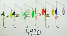 6- 5/8 oz crappie bass walleye spinners fishing lure baits Erie-minnow rigs 4930