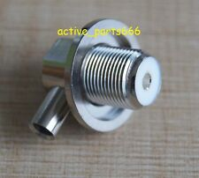 1x Connector SO239 UHF Female for radio solder RG58 RG142 LMR195 right angle