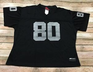 Oakland Raiders Jersey Reebok Vtg 2002 Jerry Rice Womens XL Black NFL Football
