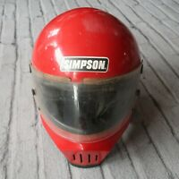 Vintage Simpson M30 Bandit Full Face Motorcycle Helmet SNELL 80 7 1/4 70s Vader