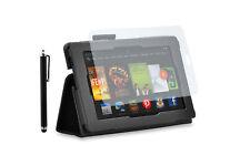 Custodia per Amazon Kindle Fire HD - Nero + Pennino + Pellicola