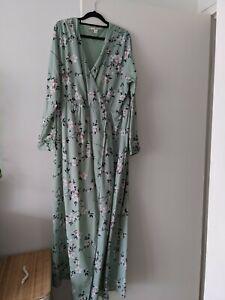UTTAM BOUTIQUE    Maxi Faux-Wrap Minty Green Goddess Dress - Size 20