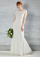 Modcloth Velvet Rope Ready Maxi Wedding Dress White NWOT 4X Lace cap sleeve