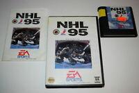 NHL 95 Sega Mega Drive Genesis Video Game Cartridge Complete - Free Postage