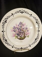 1996 Lenox Colonial Bouquet Massachusetts the Second Colony Plate