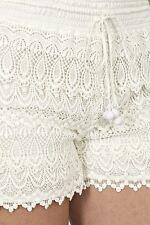 Biondi Cream Lace Crochet Shorts M/UK 12 BNWT