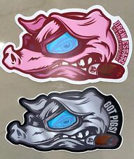 Drew Estate Flying Pig Sticker Pack (2 Stickers) - Limited Edition