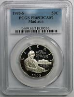 1993-S Madison Bill of Rights Silver Commemorative Half Dollar PR69DCAM PCGS