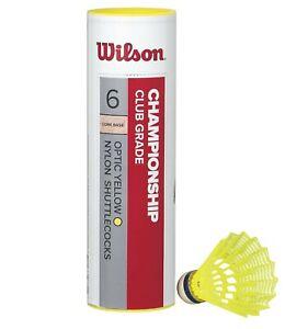 Wilson Badminton Shuttlecocks, Yellow, Set of 6