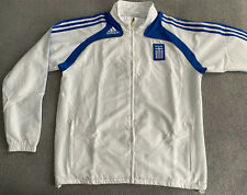 ADIDAS GREECE EURO 2008 WOVEN SUIT JACKET MENS LARGE