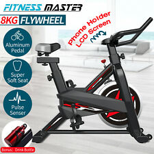 Exercise Spin Bike 8kg Flywheel Fitness Commercial Home  Gym LCD Stationary