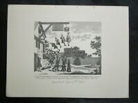 1800s Engraving Etching - The Weighting House by William Hogarth