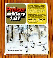 PREISER MILITARY 16604 H0 Figuren INFANTERIE WINTERUNIFORM - DEUT. REICH 1939-45