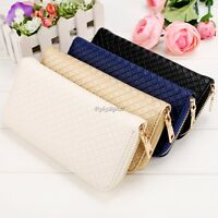 Women Lady PU Leather Clutch Wallet Long Card Holder Case Purse Handbag 35DI