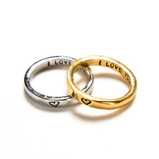 Rarity Forever Love Gold & Silver Heart Couple Rings His and Her Promise