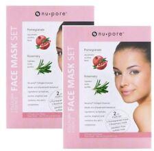 4 Packs Nu-pore Collagen Essence Fresh Pomegranate & Rosemary Facial Face Mask