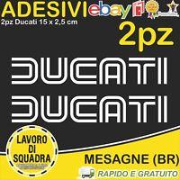 2 Adesivi Stickers DUCATI OLD panigale 848 1098 999 749 916 998 748 996 BIANCO