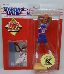 Starting Lineup 1995 GRANT HILL 1st Year Figure -Detroit Pistons-KMART EXCLUSIVE