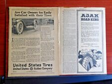 Vintage - Ajax Road King tires - 1920 magazine advertising 8 x 11 1/2 inches