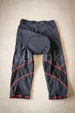 Santic XXL Pantalones Cortos Ciclista con almohadilla - Negro/Rojo