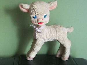 VINTAGE REMPEL RUBBER LAMB SQUEAKY TOY ~ AKRON, OHIO USA