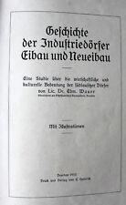 HISTORIA DE LA industriedörfer construcción y neueibau 1913 ZITTAU Görlitz
