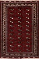 BURGUNDY 7'x10' Geometric Balouch Area Rug Wool Hand-Knotted Oriental Carpet