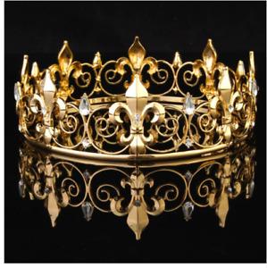 renaissance crown kings crown cosplay crown mens accessories costume Mens Beowulf Crown medieval crown