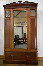 Antique mirror door wardrobe