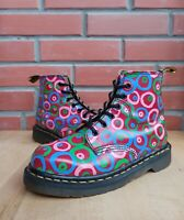 Vintage Dr Martens England 101 Boots Women 4 UK 6 US 37 E Colorful Circle Rings