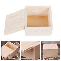Handmade Crafts Jewelry Storage Box Ring Case Wood Plain Candy Case Popular ND