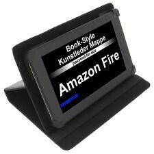 Funda para amazon fire LIBRO - Estilo Tableta FUNDA PROTECTORA Stand Negro