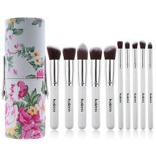 10pcs Makeup Brushes Cup Holder Case Powder Foundation Blender Cosmetics Set