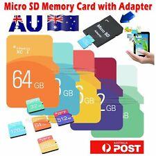 High Speed 256GB/128GB SD Memory Flash Card TF Free Adapter SDHC/SDXC Storage