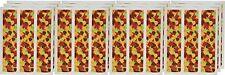 Lucks Designer Prints, Shimmer Leaves, 2-1/4 X 10 Inch, 36 Count