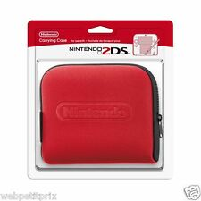 POCHETTE DE TRANSPORT NINTENDO 2DS ROUGE Officiel EN Stock Neuf et Emballer