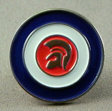 MODS BLUE WHITE RED TROJAN HEAD ROUNDEL PIN BADGE NEW