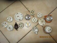 lot Ancienne Pièce de Lampe Lustre Interrupteur céramique porcelaine eclairage