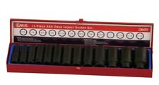 "Genius Tools 13PC 1/2"" Dr. SAE Deep Impact Socket Set (CR-Mo) - CM-031"