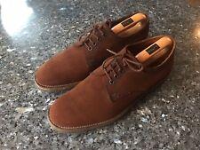 Men's BARKER's Brown Suede Leather Lace Up Shoes UK 8.5E, EU 43- Fair Condition!