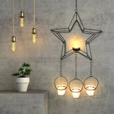 Pentagram Craft Candle Hanging Stand Lovers Wall Candlelight Holder Decor **1~