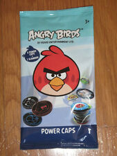 ANGRY BIRDS POWER CAPS NEW STILL SEALED NUEVO each bag contains 1 slammer & 6 po