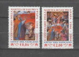 s37827 VATICANO 2004 MNH** San Pio V 2v