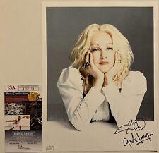 Cyndi Lauper Signed Photo Autographed Shes So Unusual JSA COA