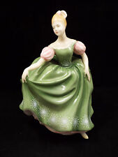 Royal Doulton Figurine HN2234 Michele, Woman in Green Dress w/ Pink Sleeves