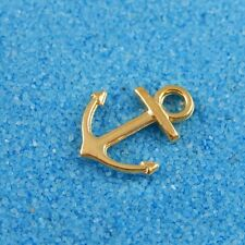 100pcs Vintage Gold Alloy Boat Anchor Pendants Charms Fashion Jewelry 37640